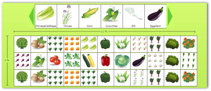 3x11 sample vegetable garden plan