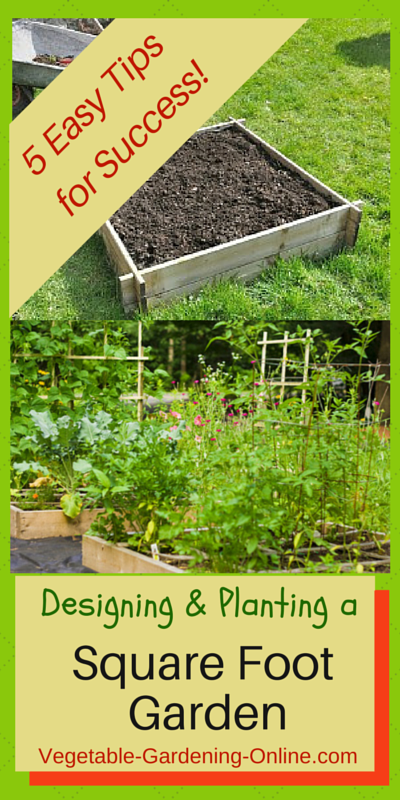 Square foot garden designs tips and plans - Square meter vegetable garden ...