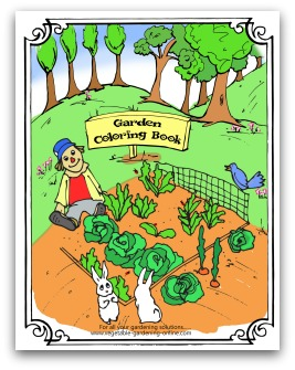 free printable vegetable gardening coloring book for kids