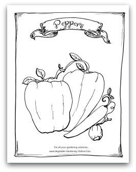 Free Vegetable Garden Coloring Books, Printable Activity Pages for Kids