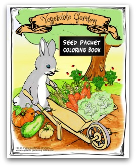 printable garden seed-packet coloring book
