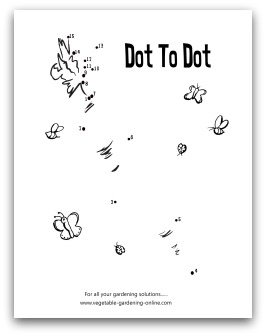 garden carrot dot-to-dot printable