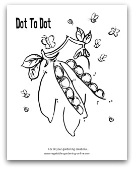 garden peas dot-to-dot printable