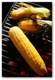 ears of corn on the BBQ