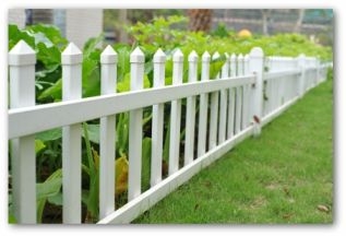 white picket garden fence