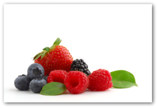 fresh blackberries, raspberries, blueberries and strawberries