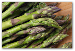 asparagus spear heads