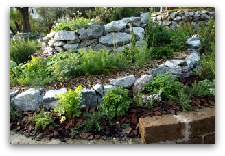 outdoor herb rock garden idea