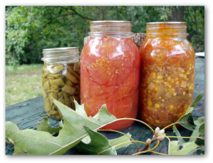 home canned vegetables