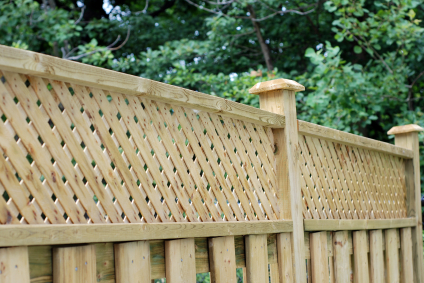 Attractive Wooden Garden Fence