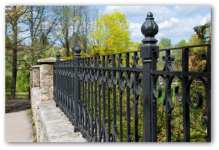 wrought iron ornamental garden fence