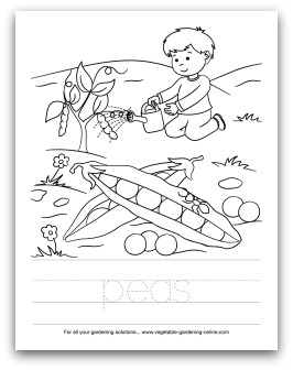 Preschool Art Activities on Gardening Kids Planting Seeds Free Printable