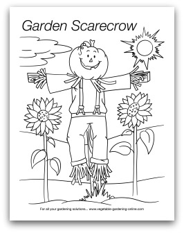 Scarecrow Garden Art Activity Page Preschool And Learning Activities Coloring Printable
