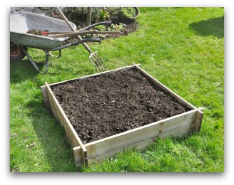 simple raised bed garden frame example