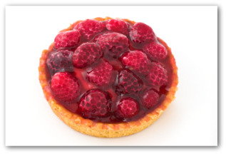 fresh baked raspberry pie