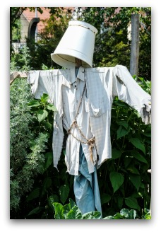 scarecrow idea with lampshade head