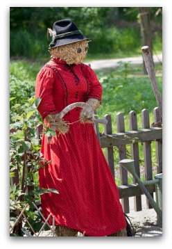 Lady Pioneer Scarecrow