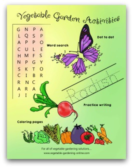 free gardening activity worksheets for kids