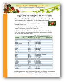 free vegetable planting guide