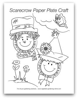 scarecrow paper plate crafts