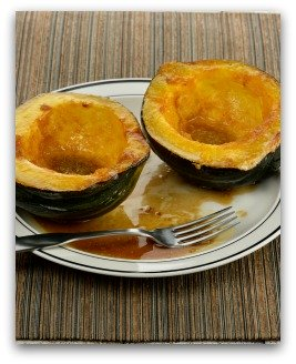 baked acorn squash from the garden