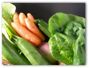 spinach and other vegetables