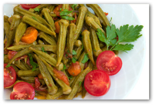 okra sauted with tomatoes