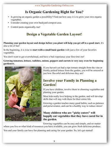 how to grow a garden ebook sample page