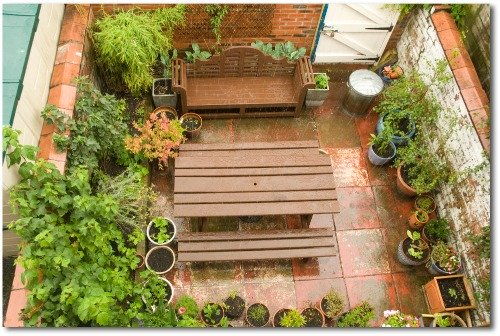 vertical patio garden idea