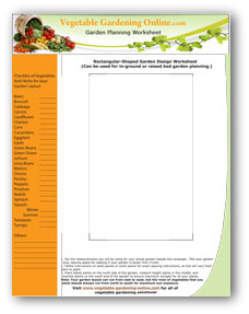 photograph relating to Garden Planning Worksheet referred to as No cost Vegetable Back garden Planner Computer software and Worksheets