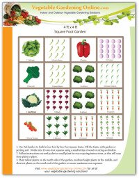 sample square foot garden design worksheet