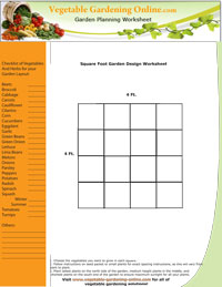 Square Foot Garden Plan Worksheet