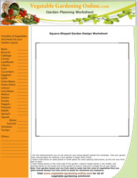 Blank Vegetable Garden Worksheet